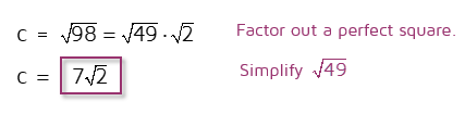 Factor out a perfect square to simplify the square root.