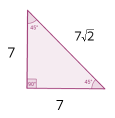 How are the sides of a 45-45-90 triangle related? Is there a shortcut?