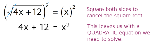 How to solve a radical equation that turns into a quadratic equation.