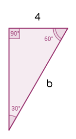 Find the missing hypotenuse of a 30-60-90 triangle given the short leg.