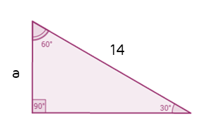 Find missing short leg of 30-60-90 triangle given the hypotenuse.