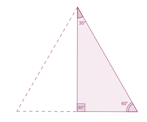 A 30-60-90 triangle can be formed by cutting an equilateral triangle in half.