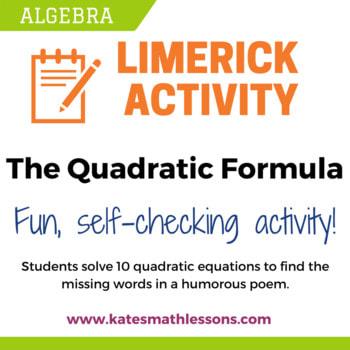 the quadratic formula kate s math lessons