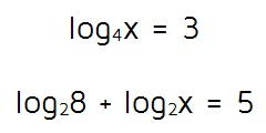 Solving equations with logarithms on one side.