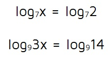 Solving equations with logarithms on both sides.