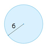 Find the area of the circle.