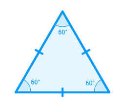 All 3 sides of an equilateral triangle are the same length