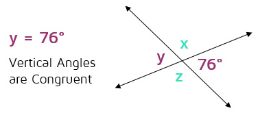 Vertical angles are congruent diagram.