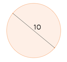 Find the area of a circle given the diameter.
