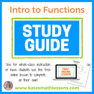 Free Intro to Functions Study Guide