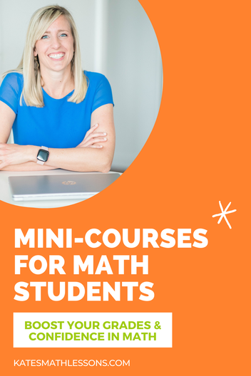 Online mini math courses for kids and math students