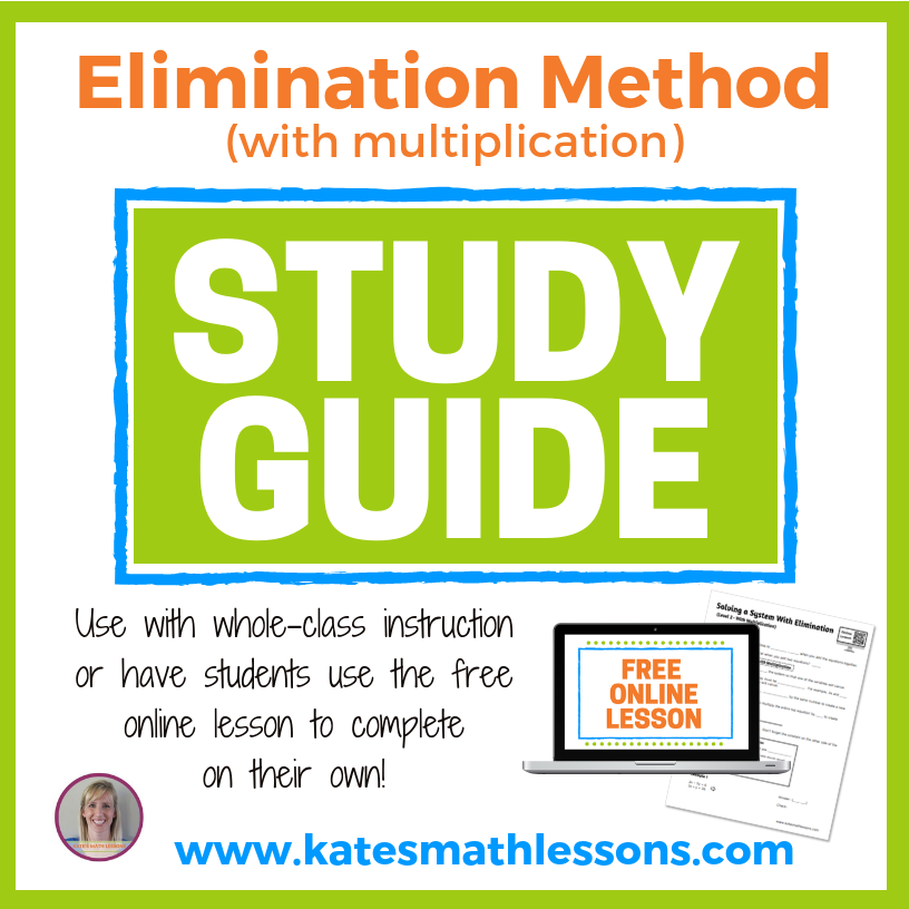 Elimination Method Study Guide
