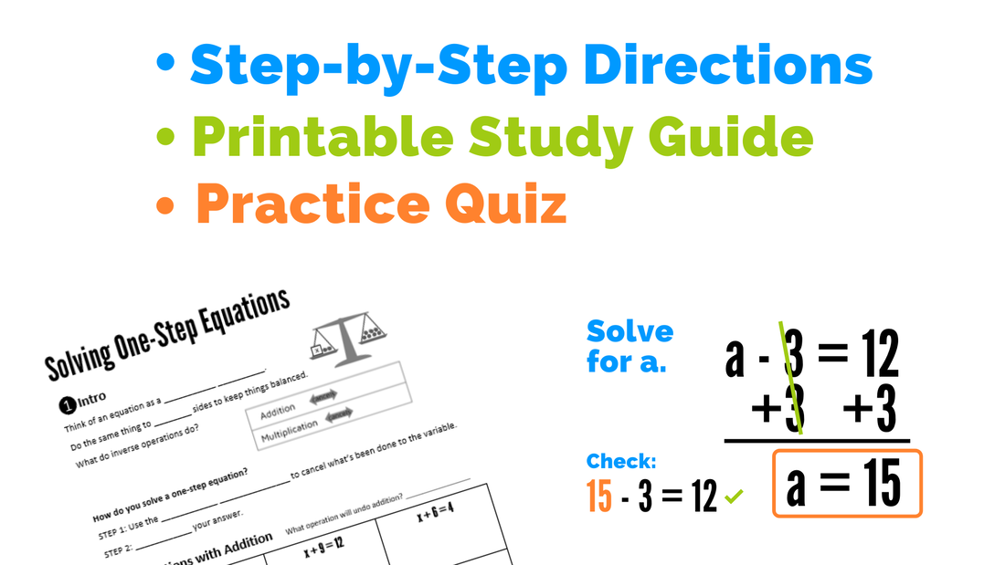 Solving One-Step Equations course with study guide, examples, videos, practice problems, and more!