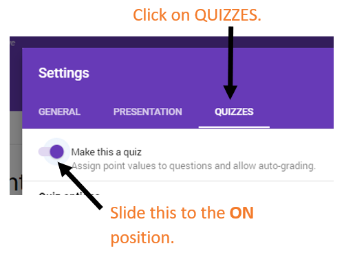 How to make a quiz in Google Drive.