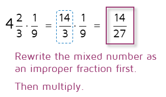 How do you  multiply a mixed number by a fraction?