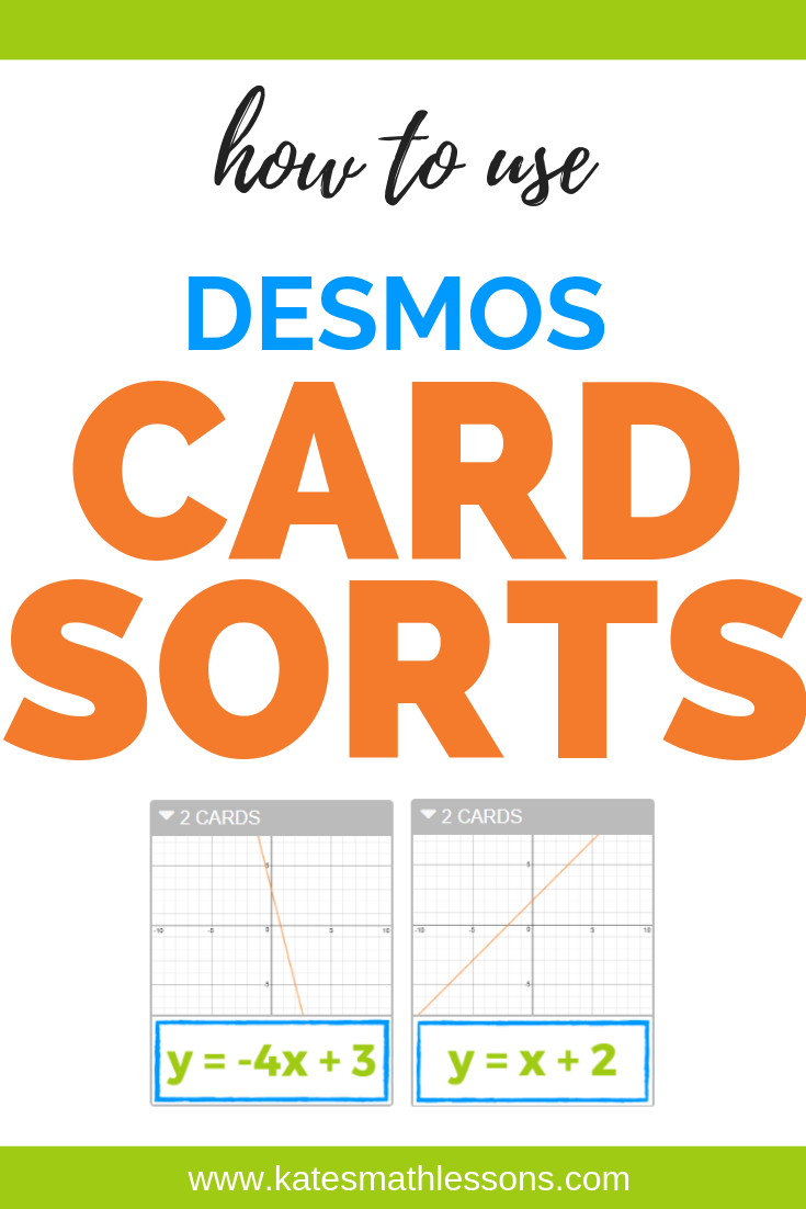 How to use Desmos Card Sorts!