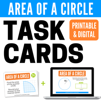Area of a Circle Geometry digital activity.  Great for distance learning!