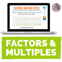 Factors and Multiples Boom Cards - digital task card activity