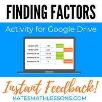 Finding Factors and Multiples Fun Digital Activity for Google