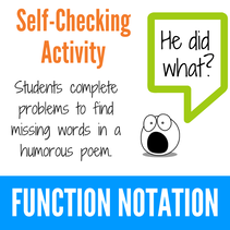 Function Notation Fun Activity
