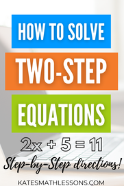 Solving Two-Step Equations Free Online Lesson: How to solve an equation with two steps examples and practice quiz for distance learning