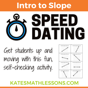 Intro to Slope - finding slope from a graph fun group activity.