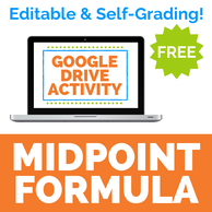 Midpoint Formula Activity for Google Drive