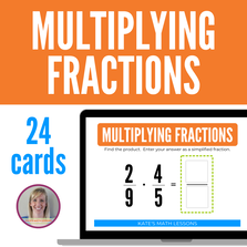 Multiplying Fractions Boom Cards - digital activity great for distance learning!