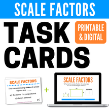 Printable and Digital Activities for finding Scale Factors of Similar Figures - great for distance learning!