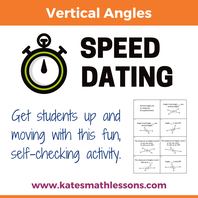 Vertical Angles Geometry Group Fun Activity