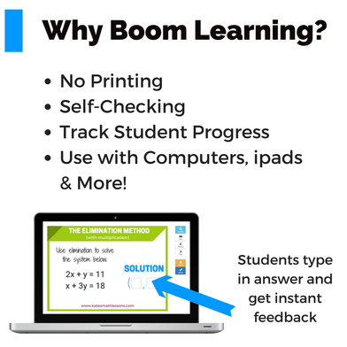 Why should you start using Boom Cards from Boom Learning? They're self-checking, digital task cards. You can even track student progress! Plus, no printing means less prep for teachers.