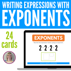 Writing Expressions with Exponents Boom Cards - digital activity great for distance learning!
