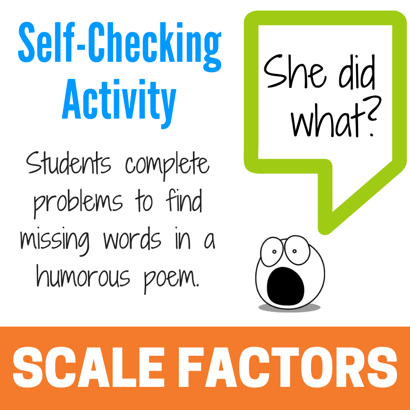 Scale Factors Of Similar Figures Kate S Math Lessons