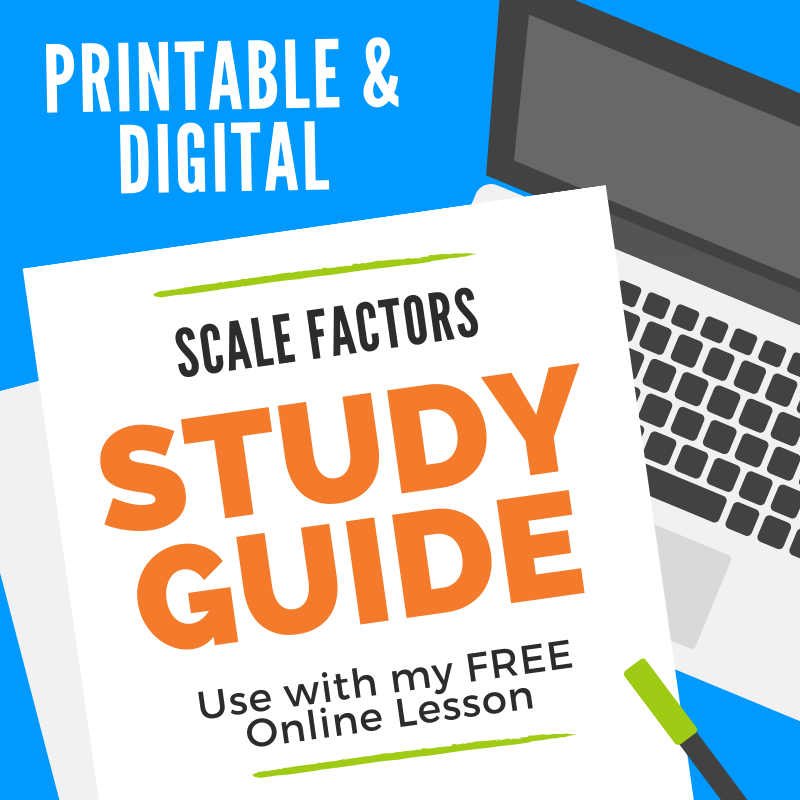 Scale Factors of Similar Figures Geometry Study Guide - guided notes great for distance learning!