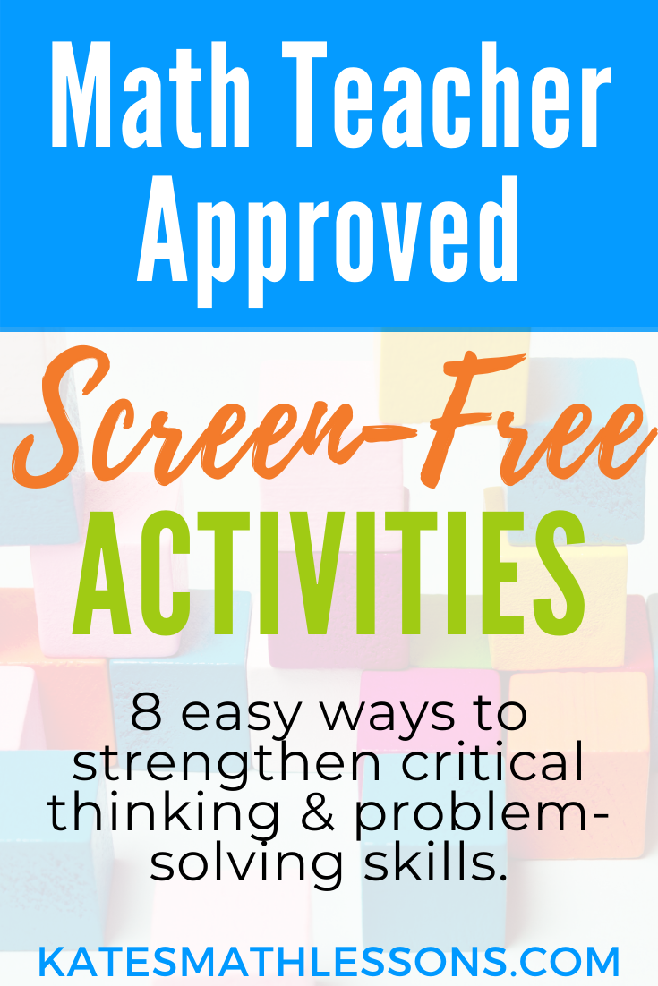 Screen-free activities to strengthen critical thinking, spatial awareness, and problem-solving skills. Math teacher approved!