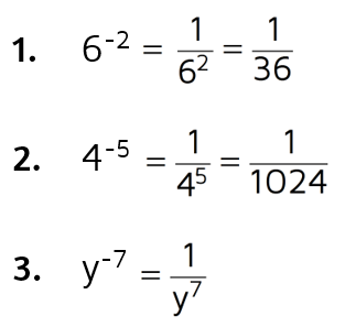 Simplifying expression with negative exponents.