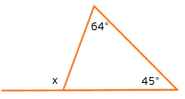 How can you use the measures of the remote interior angles to find the measure of the exterior angle.