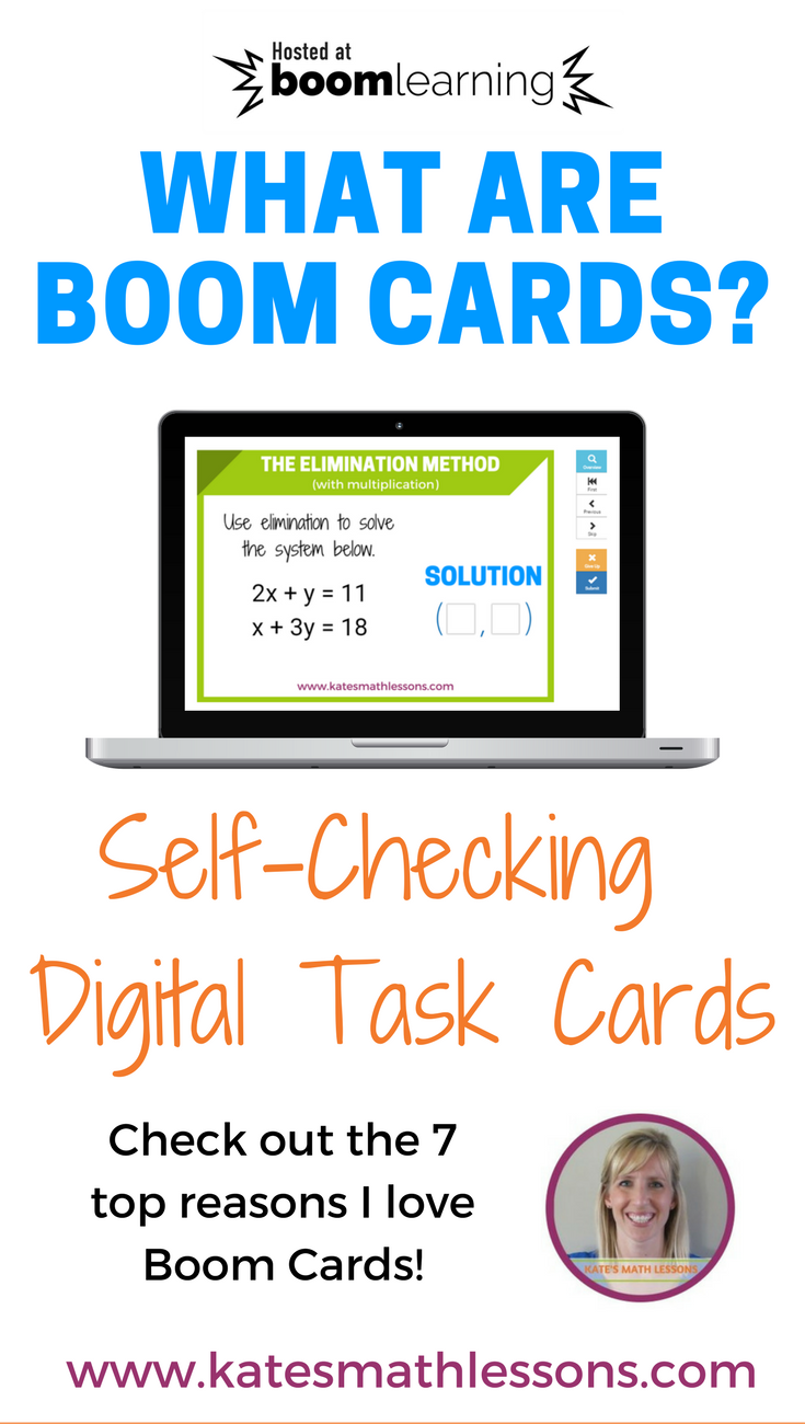 What are Boom Cards? Check out these digital, self-checking task cards!